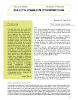 Bulletin municipal n°15 mai 2019
